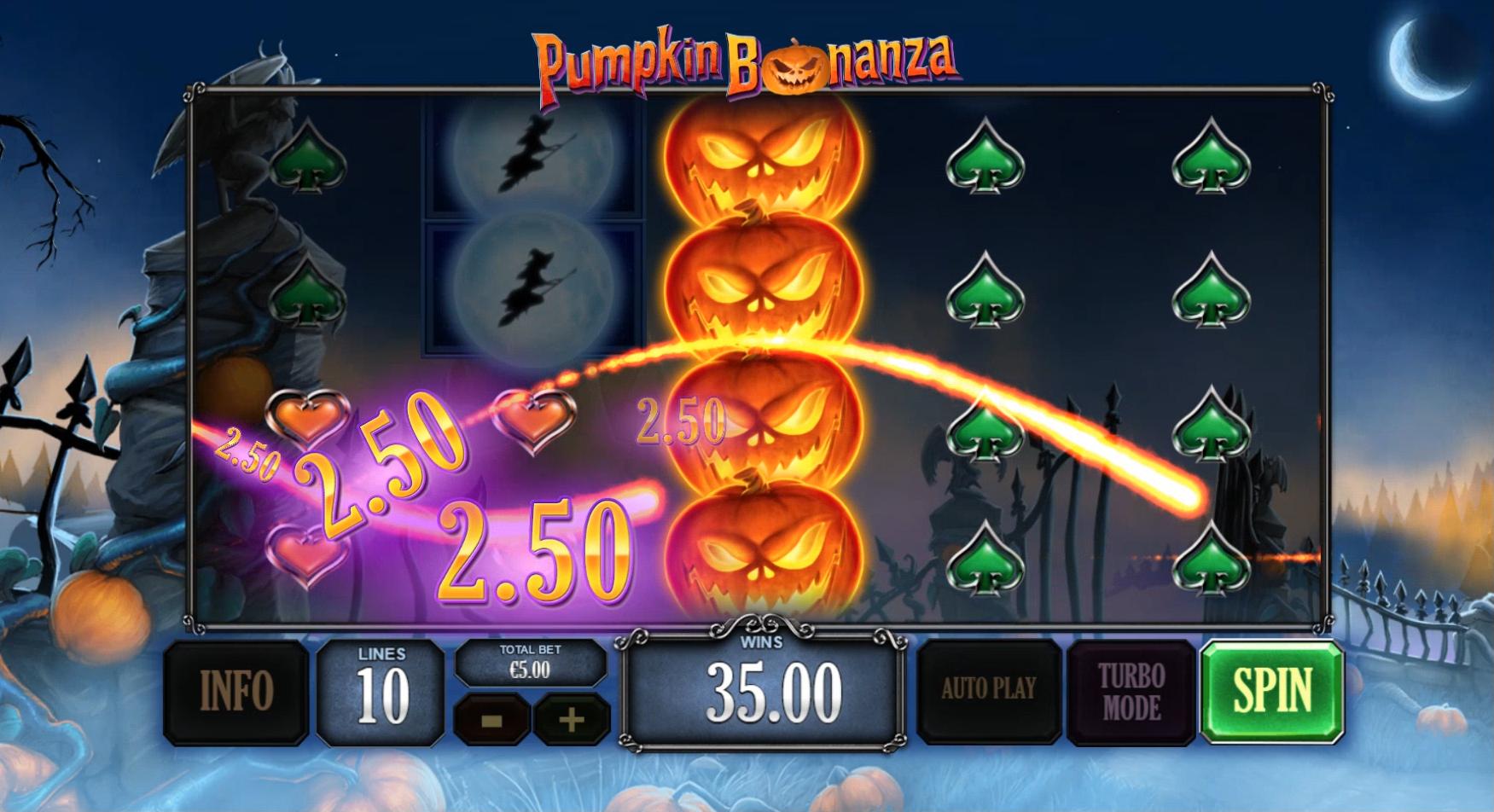 playtech :: playtech's pumpkin bonanza: halloween-themed slot and