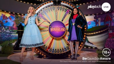 Playtech launches Adventures Beyond Wonderland Live Casino headline game show